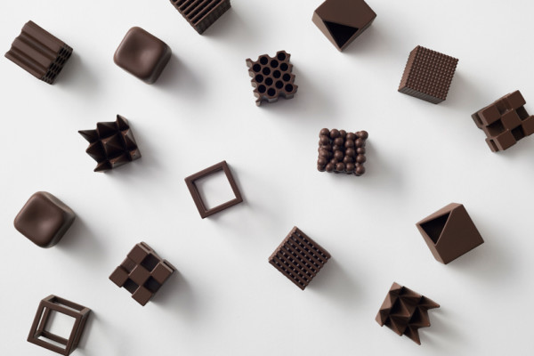 Chocolate texture project par Nendo